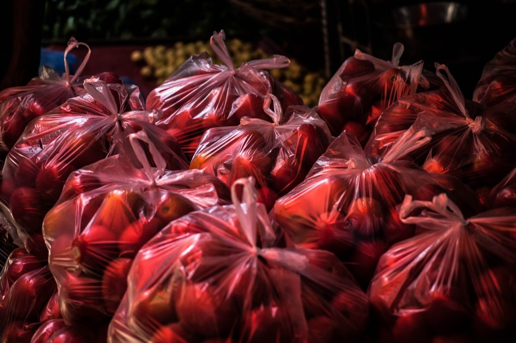 Bags of tomatoes