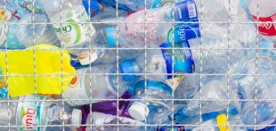 Many plastic bottles for recycling will be recycled, Concept of recycling the Empty used plastic bottle