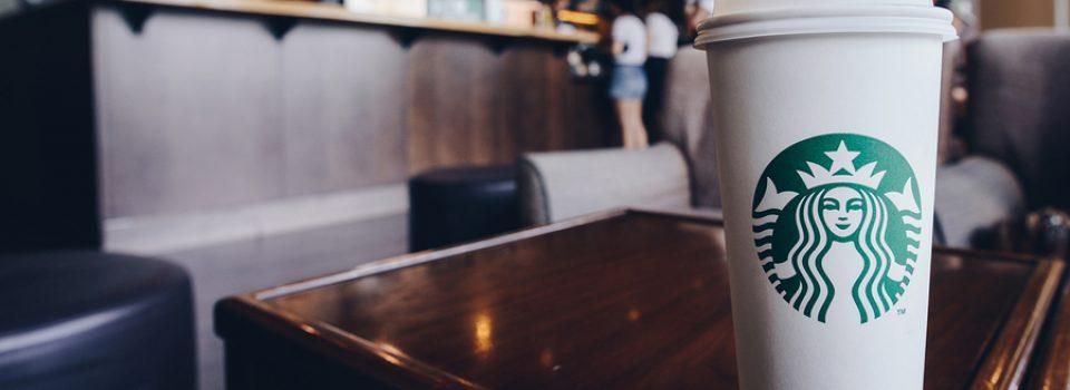 A Venti Starbucks coffee in Starbucks coffee shop.
