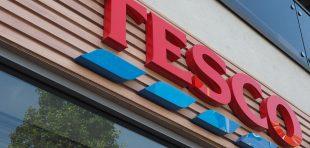 Tesco supermarket storefront