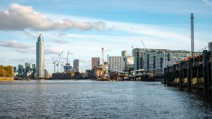 A View East Of The River Thames From Battersea Towards Nine Elms