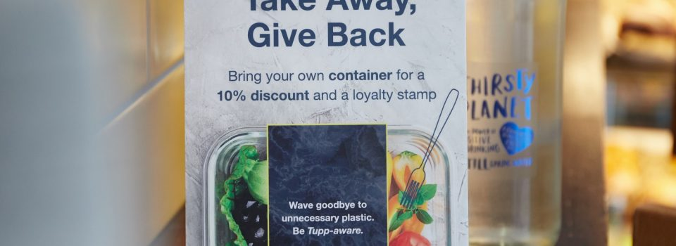 A picture of a Food Savvy leaflet to promote recyclable packaging.