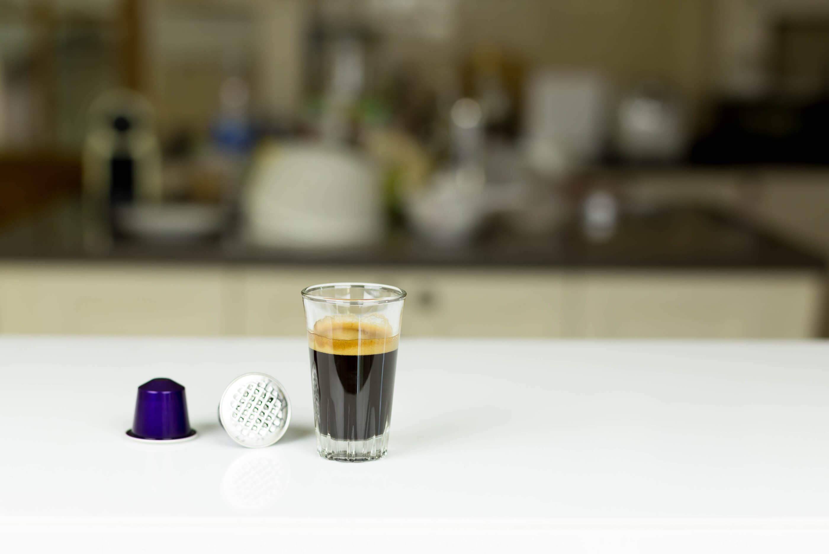Coffee pods and espresso coffee