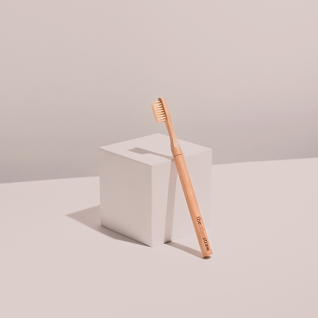 Bamboo toothbrush by Onestraw.