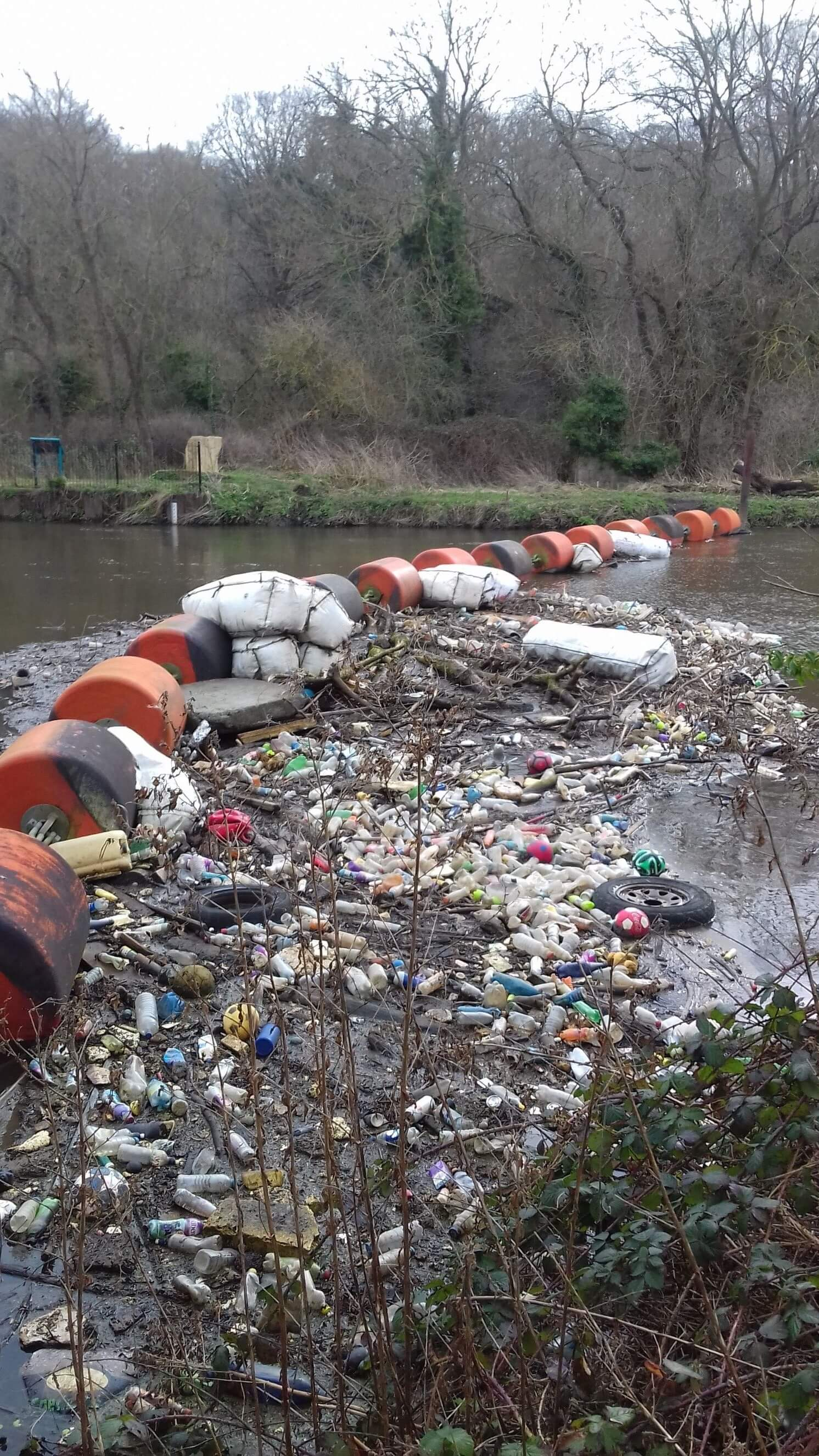 Plastics in the Waterways_credit to Canal and River Trust