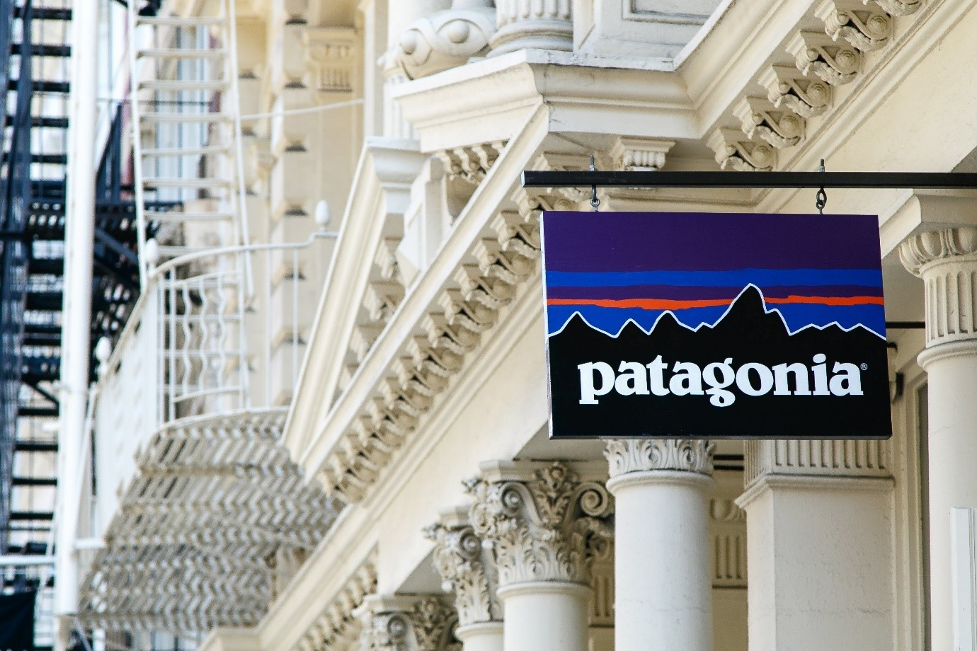 Patagonia store street sign