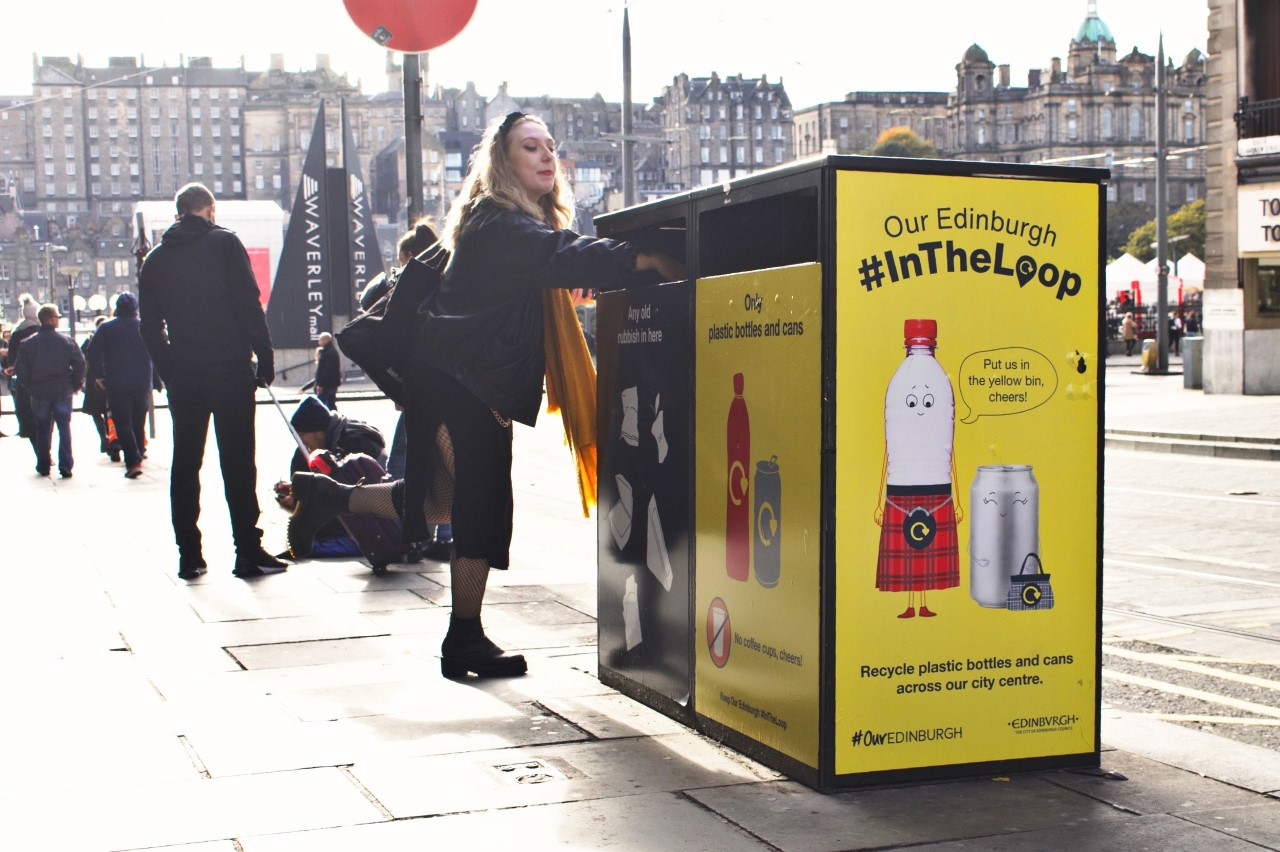 on-street recycling in Edinburgh