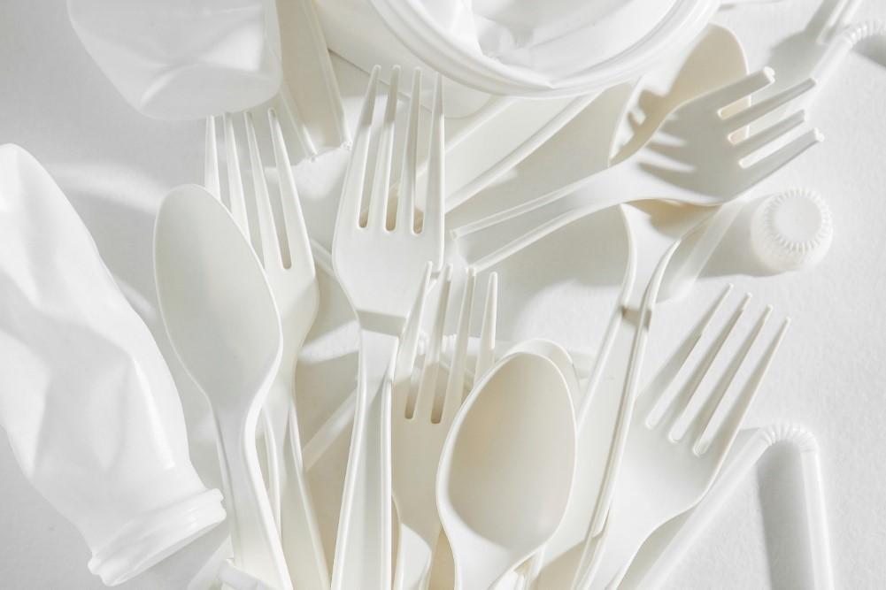 plastic spoons.