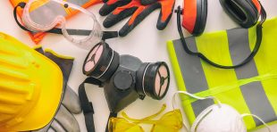 health and safety devices, e.g. gloves, headphones, visors and hi vis jacket.