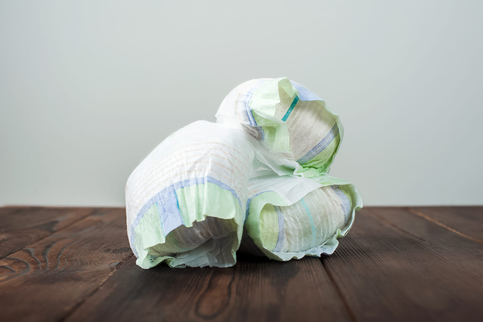 Nappies, ready for recycling
