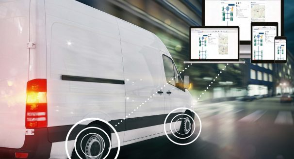 A picture of a van utilising TyreWatch technology